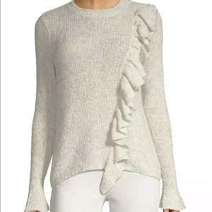 Rebecca taylor wool blend ruffle sweater